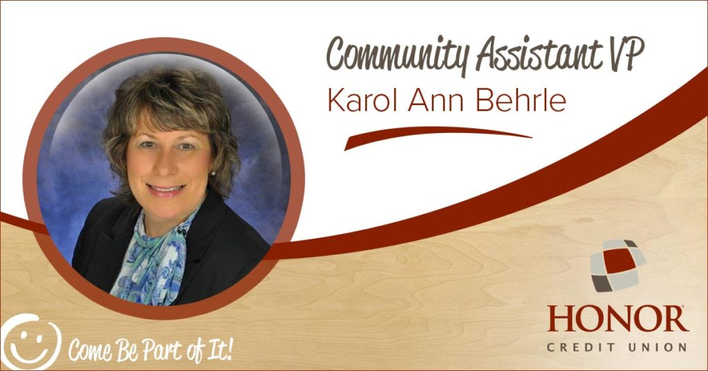 karol behrle announced as honor credit union community assistant vice president