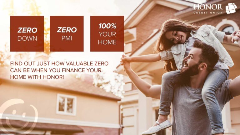 get a mortgage with no down payment and no pmi from honor credit union