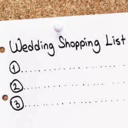 blank wedding shopping list