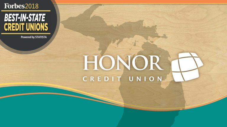 honor credit union was voted best credit union in michigan in 2018 by Forbes