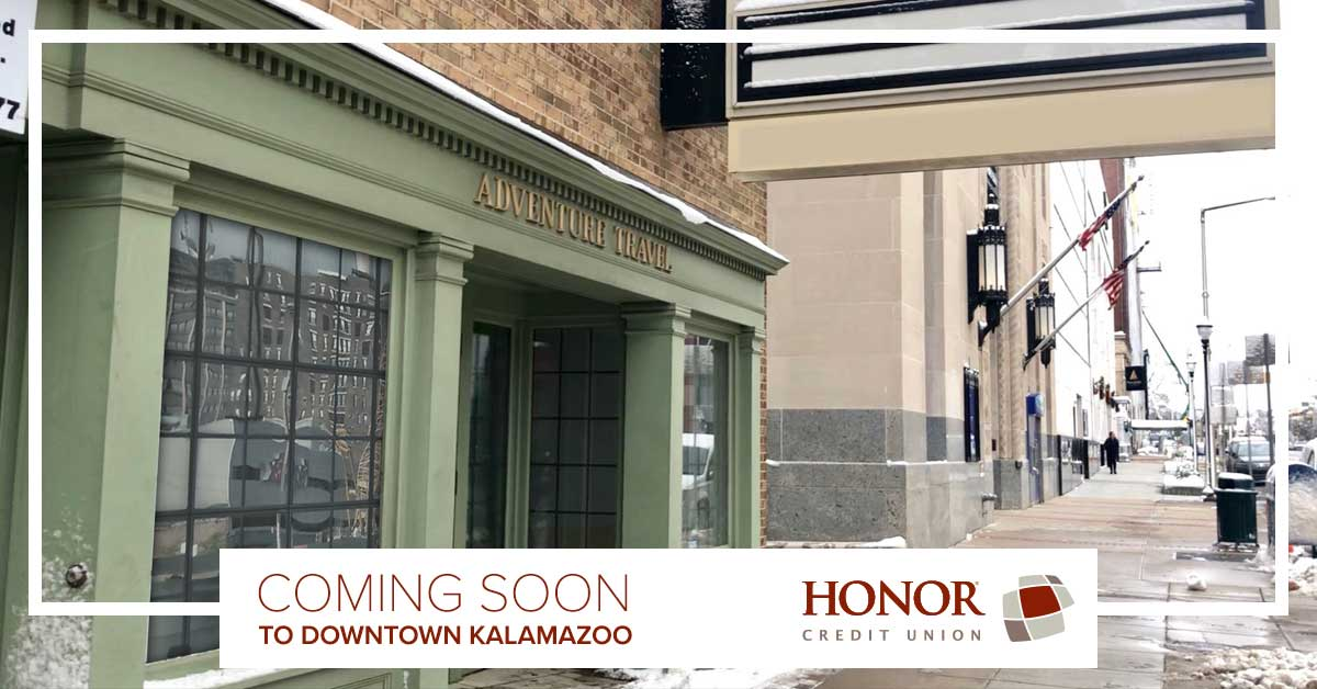 honor credit union is coming to downtown kalamazoo