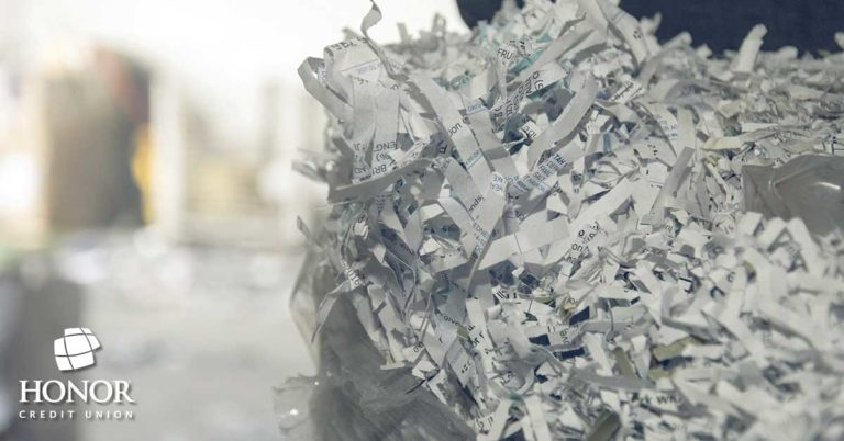 honor credit union shred days