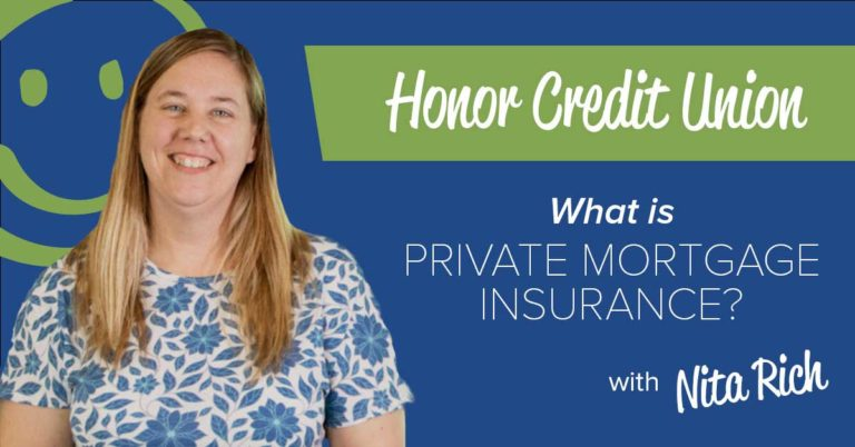 photo of honor mortgage lender nita rich on a blue background with white text promoting a blog post that explains private mortgage insurance (pmi)