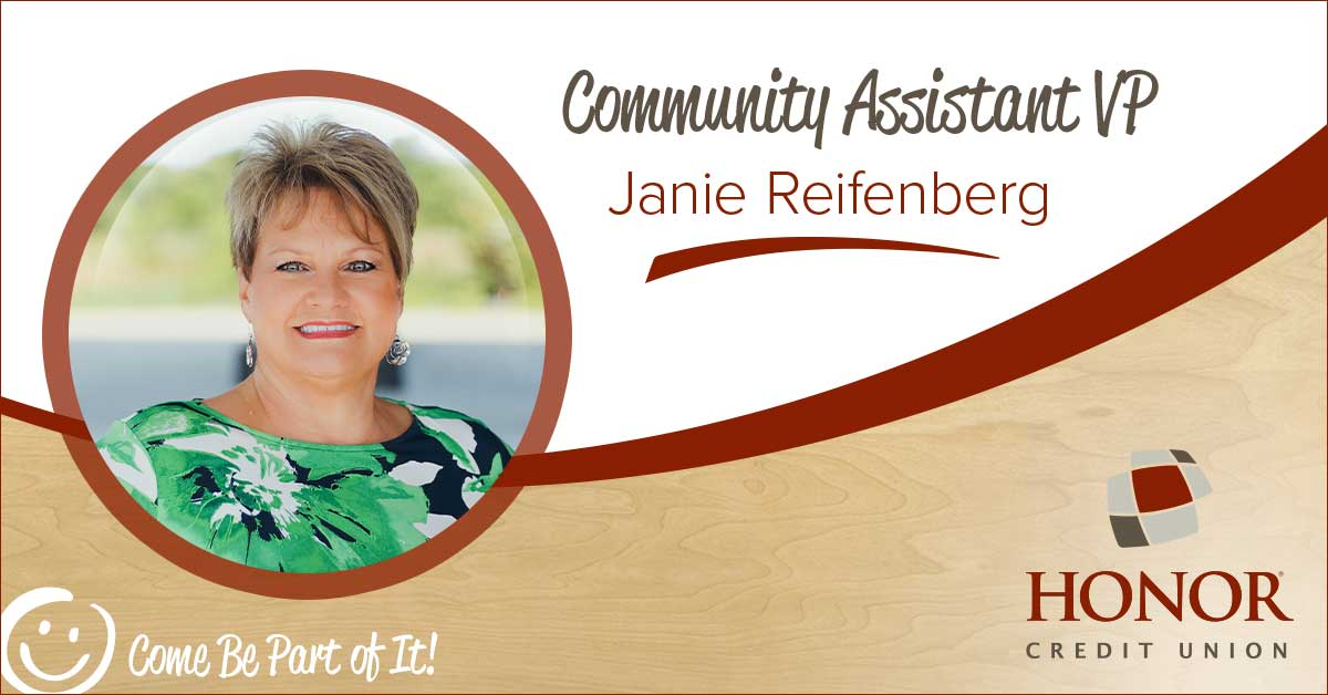 Janie Reifenberg has been named Community Assistant VP for the Dowagiac, Decatur, and Paw Paw areas