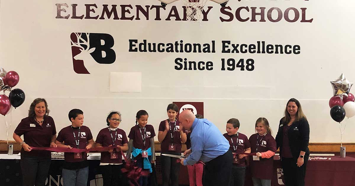 the buchanan bucks student credit union celebrated its grand opening October 10, 2018 with students and faculty attending a ribbon cutting