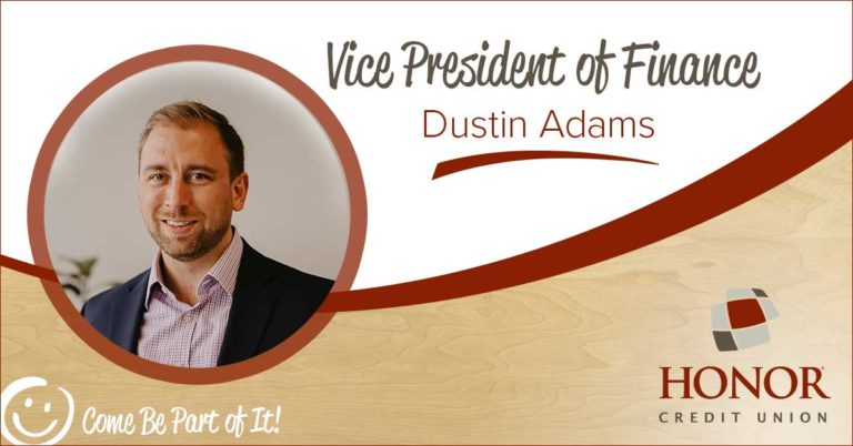 dustin adams is announced as vice president of finance