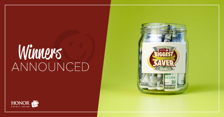 honor credit union announces winners of the 2019 biggest saver challenge