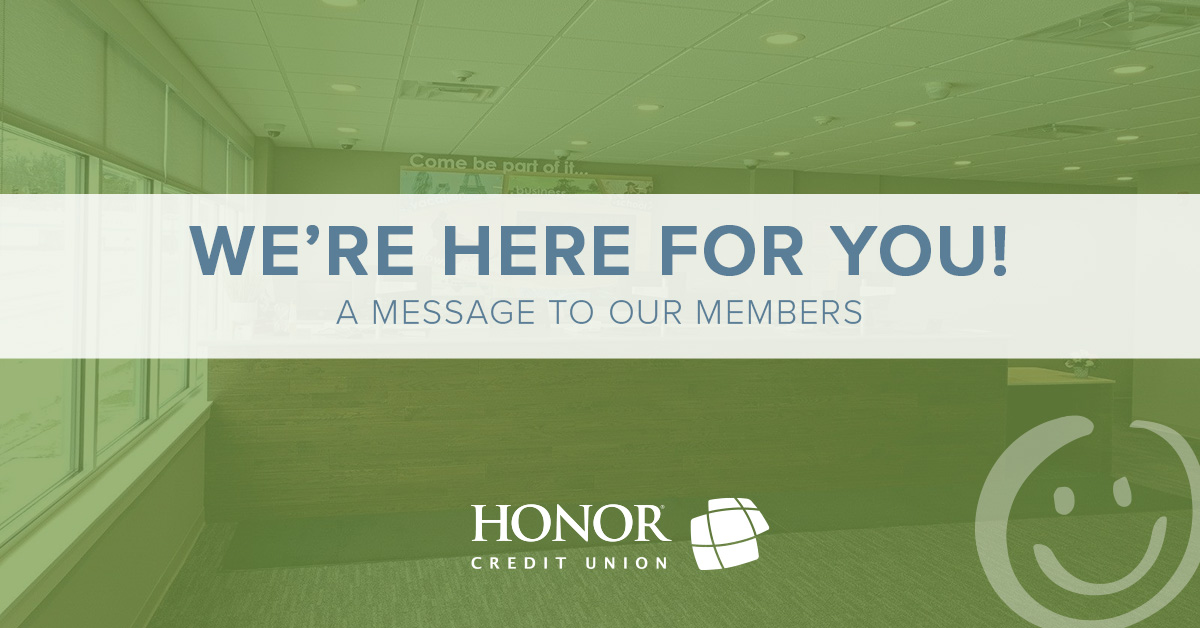 an update from honor credit union about coronavirus