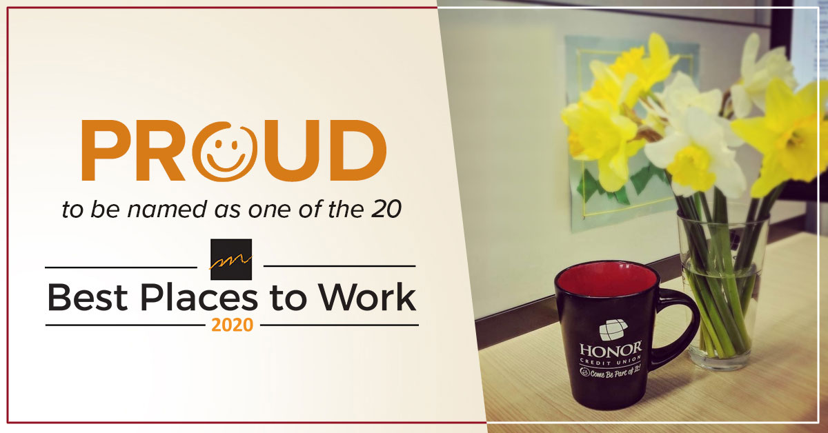 honor credit union named a top place to work in southwest Michigan in 2020