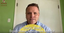 screenshot photo of honor credit union's charley shaskey talking about the government stimulus checks in a video