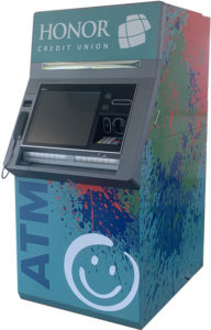 image of an honor credit union live teller atm machine