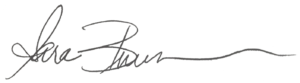 electronic signature of sara buursma, honor vp of member experience