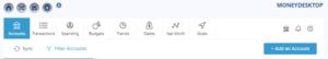 screenshot of the moneydesktop dashboard