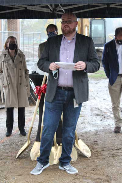 photo from the honor credit union berrien springs member center groundbreaking ceremony on october 23, 2020