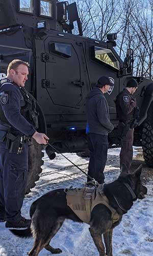 photo of patrol dog felix