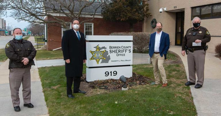 image of people standing in front of berrien county sheriff office