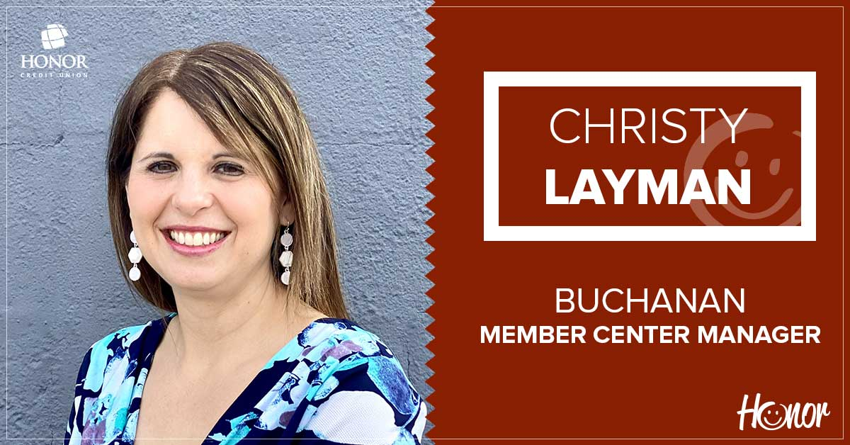 photo of honor credit union buchanan member center manager christy layman