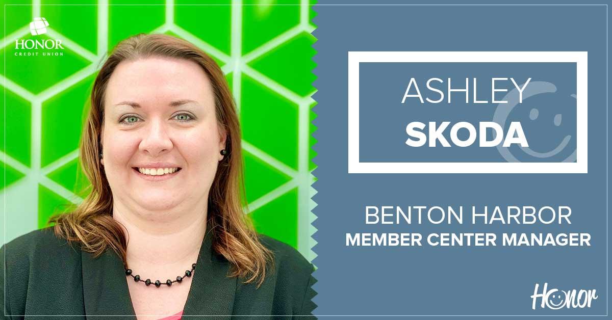 photo of honor credit union benton harbor member center manager ashley skoda