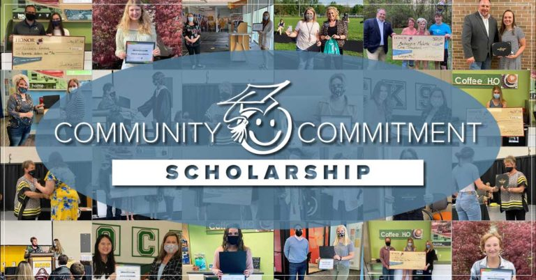 image featuring a collage of 2021 honor credit union scholarship winners