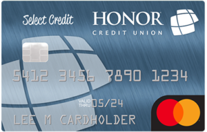 image of an honor credit union select credit card