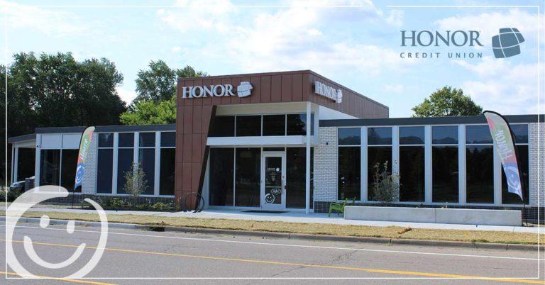 photo of new honor credit union berrien springs member center
