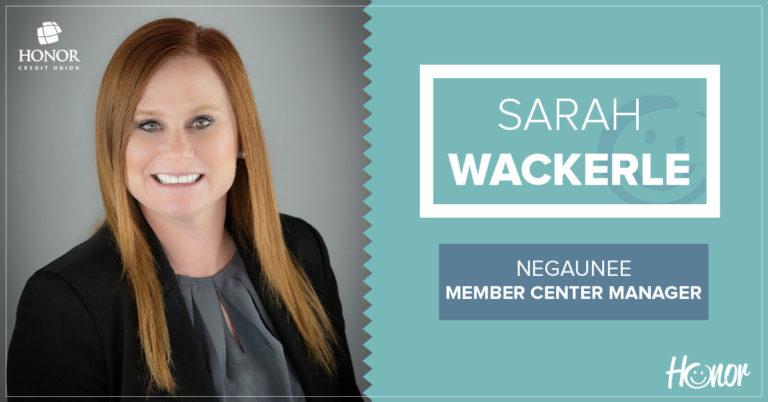 photo of honor credit union negaunee member center manager sarah wackerle