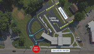 map image of new berrien springs member center parking lot