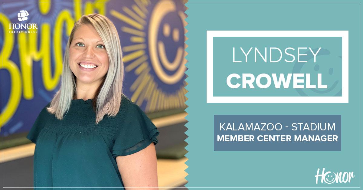 photo of honor credit union kalamazoo stadium drive member center manager lyndsey crowell