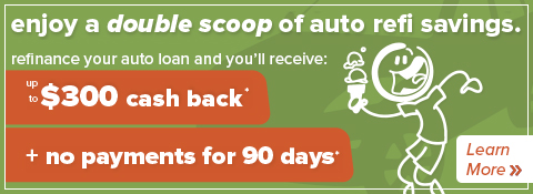 image promoting honor credit union's auto loan refinance promotional offer