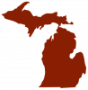 outline of the state of michigan
