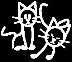 image of stick figure cats